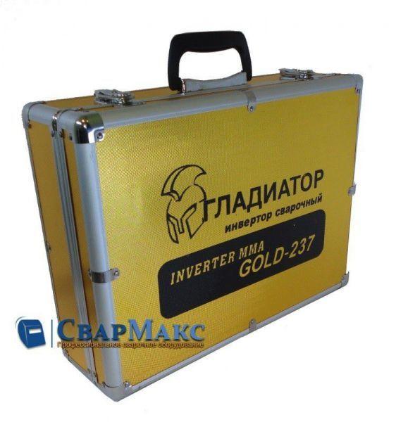 Сварочный инвертор Гладиатор mma 237 Gold (кейс)