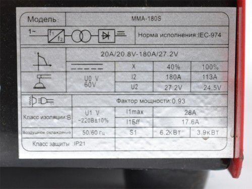 Сварочный инвертор ALKS MMA-180S