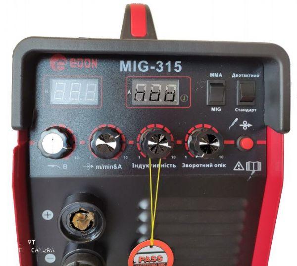 Сварочный полуавтомат Edon MIG 315 New (Дисплей)