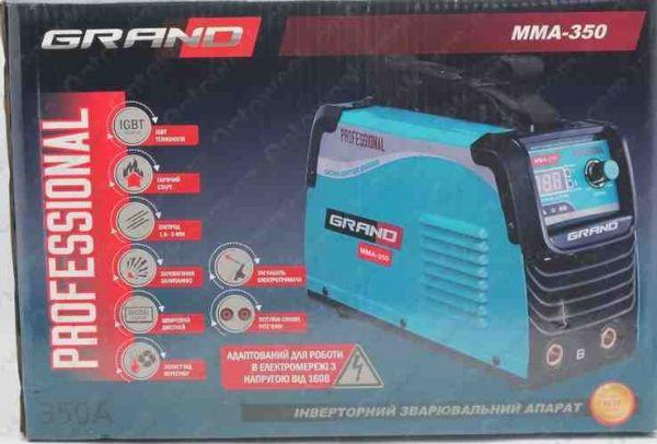 Сварочный инвертор Grand MMA 350 Professional