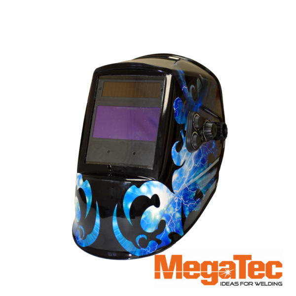 Сварочная маска MEGATEC Командор 423R (Red flash)