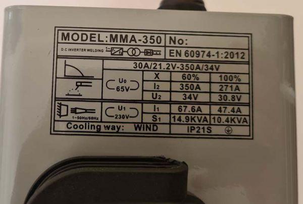 Сварочный инвертор Луч профи ММА 350 (Кейс)