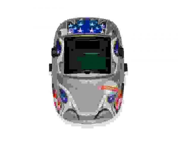 Сварочная маска хамелеон Jasic Optech S777 Silver Flag